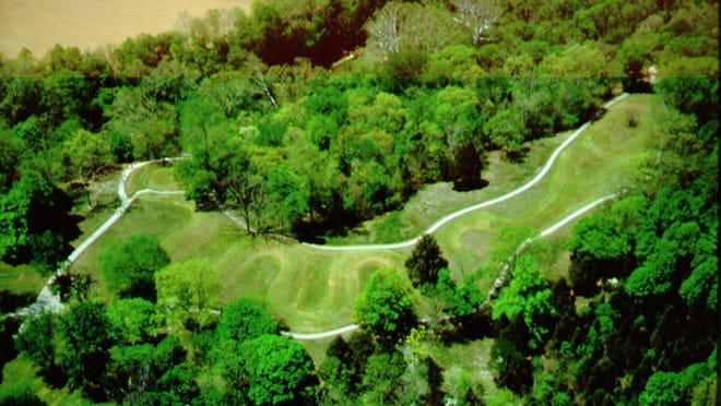 This is the photo of Serpent Mound, and OHS site in Adams County. It is being considered for inclusion on the World Heritage List. Provided/ Ohio Historical Society.