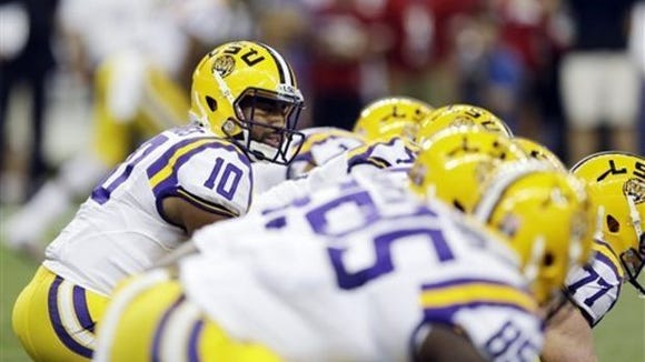 Quarterback Anthony Jennings leads LSU against Mississippi State Saturday in Baton Rouge.