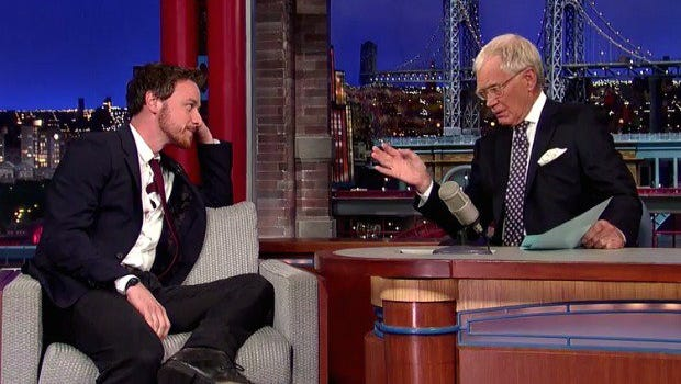James McAvoy chats with David Letterman.