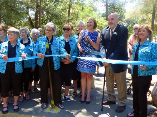 ribbon cutting Two Rivers Park river restoration