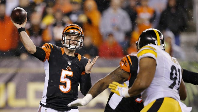 Cincinnati Bengals quarterback AJ McCarron could be traded this offseason.