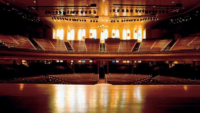 The Ryman stage.
