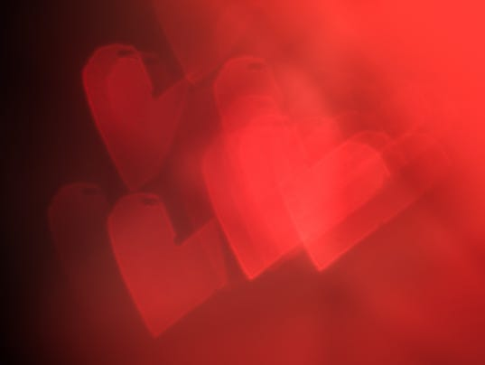 Red festive Valentine's day background