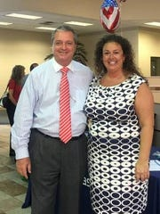 Wayne Zwick, Manager of Velde Ford, with Knelli Spencer. Relationship Manager of Seacoast Bank.