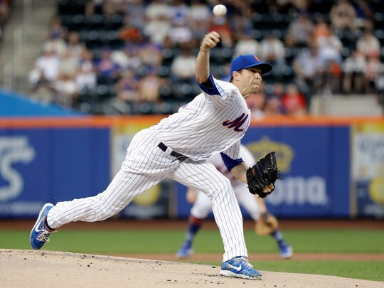 New York Mets' Jacob deGrom delivers a pitch during the first inning of a baseball game against the Atlanta Braves, Friday, June 28, 2019, in New York. (AP Photo/Frank Franklin II)
