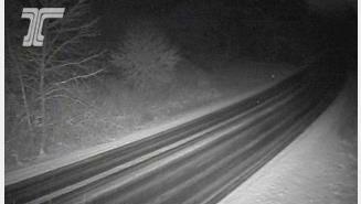 Slush and snow on Highway 22 early Thursday morning near Lyons.
