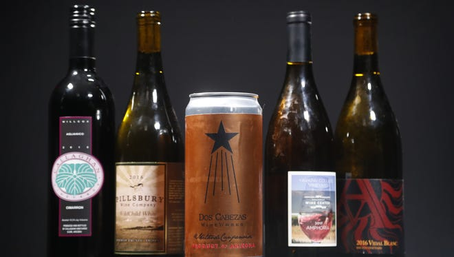 Azcentral announces its winning wines at the Republic offices on January 12, 2018 in Phoenix, Ariz.