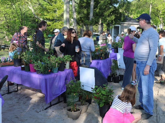 plant sale - customers discussing