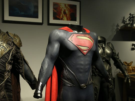 Henry Cavill's 'Man of Steel' costume seen at the Warner