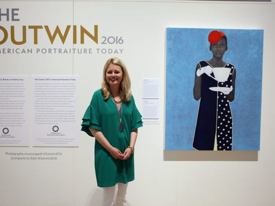 Dorothy Moss is the curator for The Outwin 2016 American Portraiture Today exhibit on display at the Art Museum of South Texas. Jurors selected 43 works from 2,500 entries. Every three years, the Smithsonian's National Portrait Gallery invites artists across America to investigate the art of portraiture through the Outwin Boochever Portrait Competition. Established in 2006, it is the premier national competition celebrating excellence and innovation in portraiture.