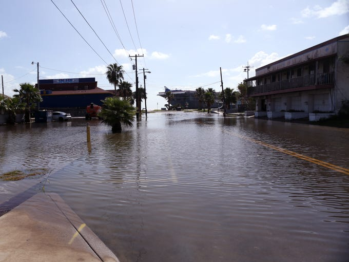 High tides caused flooding Thursday, Oct. 5, 2017,