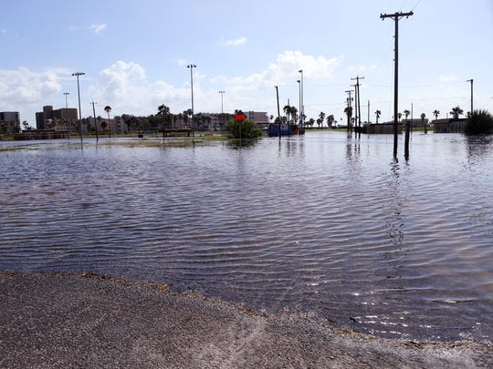 High tides caused flooding Thursday, Oct. 5, 2017, in parts of North Beach. A coastal flood advisory continues through Friday.