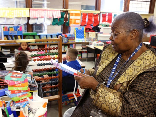 Gladys Tilley, 82, has been a kindergarten teacher at Meadowbrook Elementary for 40 years and has been an educator for 50. She also taught first grade for a very short time.
