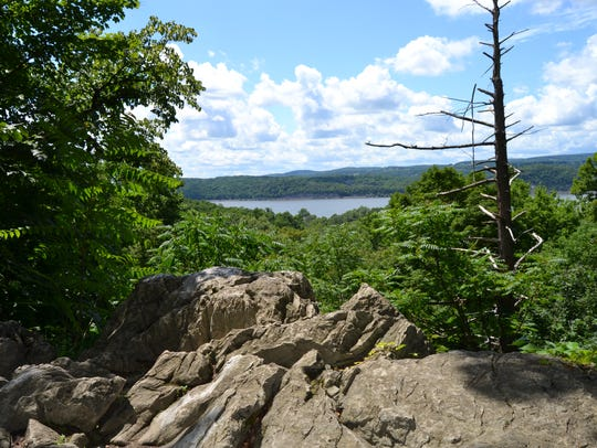 A view of the Hudson River from Bowdoin Park in the
