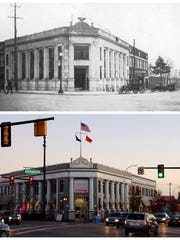 Farmington State Savings Bank (now the Village Mall) opened at Grand River and Farmington Road on March 18, 1922. The lobby was marble and walnut and the vault door weighed more than 10,000 pounds.