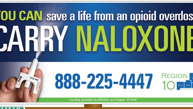 Billboards will soon be going up throughout the area promoting residents become trained in how to save the life of an opioid overdose victim.