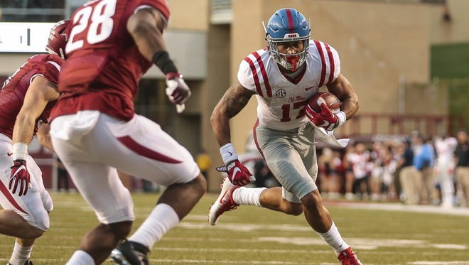 Evan Engram was a first-team All-American as a senior at Ole Miss, but boosted his draft stock with an impressive combine performance.