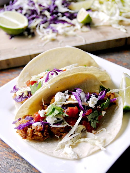 Mexican Lime Chicken Fried Tacos.
