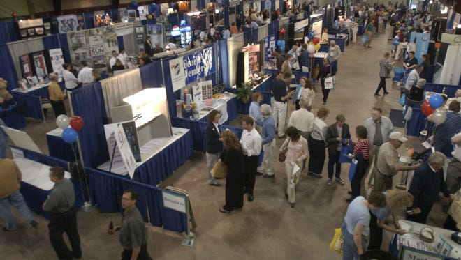 Exhibitors take part in a past Wausau Region Chamber of Commerce Business Expo.