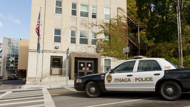 Ithaca police car.