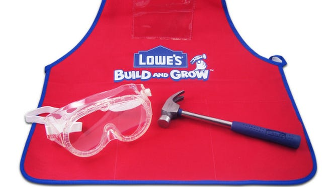 Lowe's Build and Grow apron.