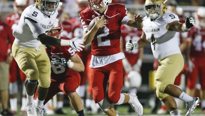 Smyrna quarterback Nolan Henderson (2), who led the Eagles to their second straight DIAA Division I title, is among those named to participate in the 62nd annual DFRC Blue-Gold All-Star football game on June 17 at Delaware Stadium.