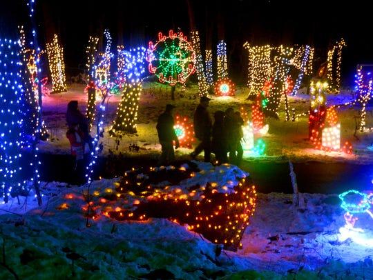 Christmas Magic's half-mile walking trail through Rocky