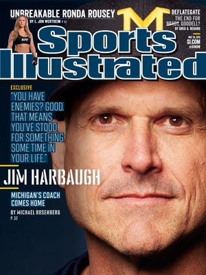 Michigan coach Jim Harbaugh is profiled in this week's Sports Illustrated.
