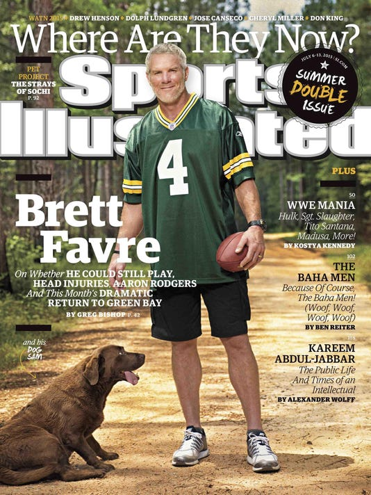 SI Cover - Where Are They Now Featuring Brett Favre