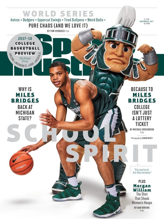 new style 38564 cd03c Michigan State's Bridges, Sparty team up for Sports ...