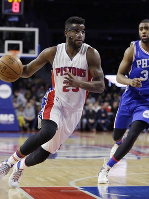 Piston Reggie Bullock shot 6-for-9 with three triples and scored a career-high 16 points in Wednesday's win over the 76ers.
