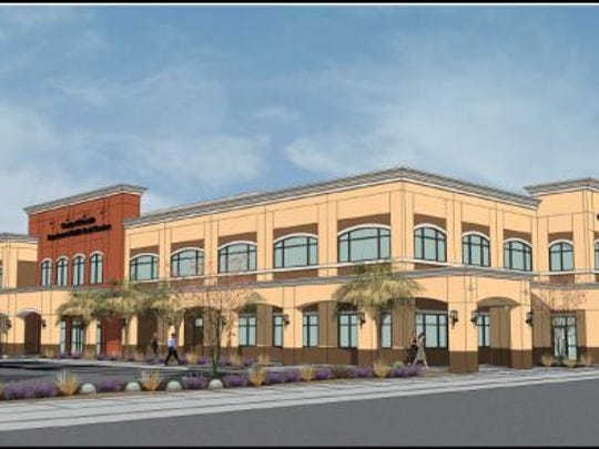 The proposed design for the possible Riverside County Department of Public Social Services in Coachella.