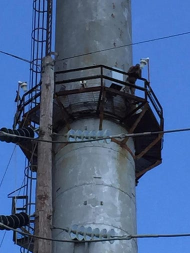 Authorities were on the scene at Vineland Electric