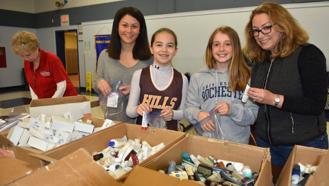 On April 21, more than 150 volunteers from the community participated in the Warren Lions Club first Operation Shoebox event to assemble care packages for troops overseas.