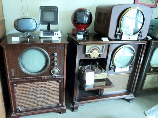 A collection of old television sets in The Old Sledworks in Duncannon, pictured June 2015.