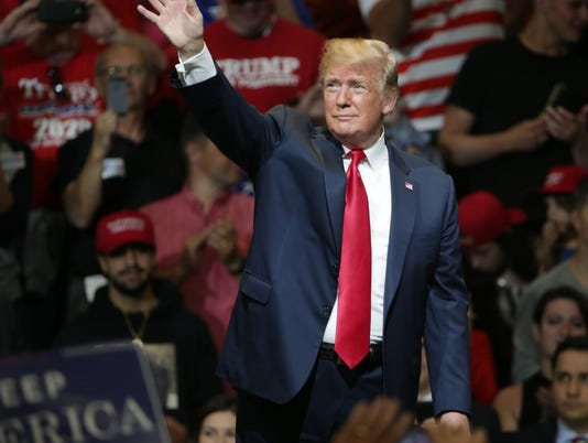 Donald Trump and Mike Pence rally at North Side Gymnasium, Elkhart
