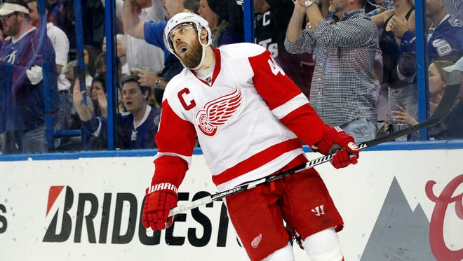 Detroit Red Wings left wing Henrik Zetterberg during the first round of the NHL playoffs against the Tampa Bay Lightning.