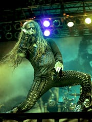 Rob Zombie performs during his Great American Nightmare,