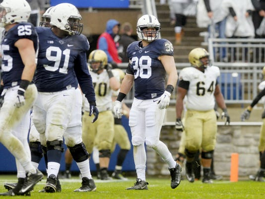 Dallastown graduate Ben Kline (38) is finally back on the field after missing nearly two years to injury. The Rhodes scholar candidate and one of the top leaders on the team can now help solidify a growing defense on the field.