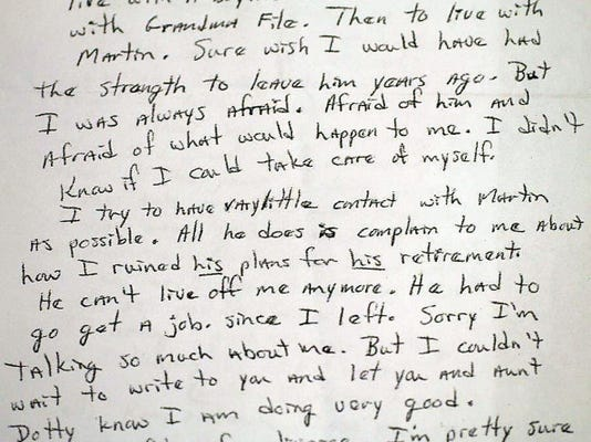 In a letter to her uncle, dated 10 days before her murder, Laurie Kuykendall Kepner wishes she'd had the strength to leave her husband years earlier.