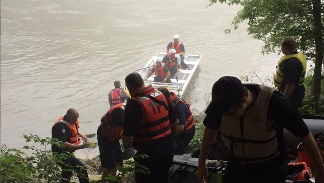 Miami Township Fire and EMS workers rescued a man stranded on an island after a canoeing accident last night.