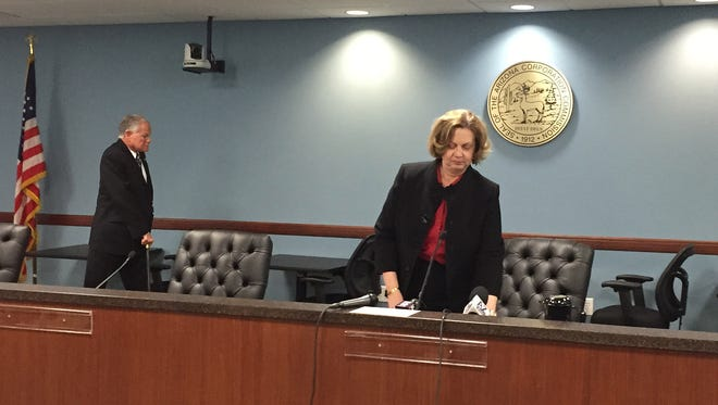 Susan Bitter Smith resigned from the Arizona Corporation Commission on Thursday, Dec. 17, 2015.