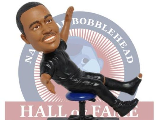 Bobblehead of Georgia State coach Ron Hunter and his stool