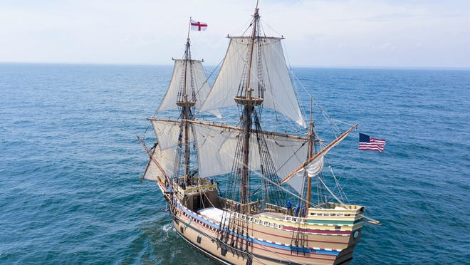 Mayflower II is scheduled to dock in Plymouth at 3 p.m. Monday.