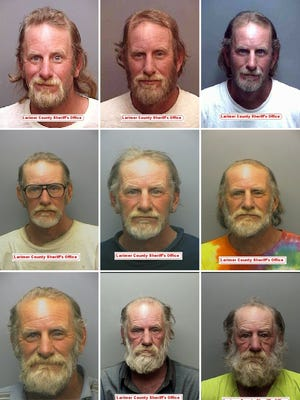 Ross Bloom has been booked in to the Larimer County Jail 53 times since 1994. Here are a selection of his booking photos over the years.