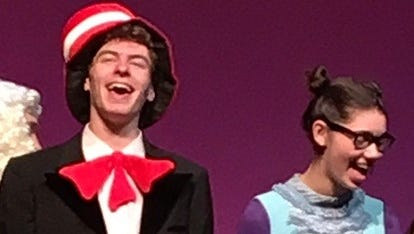 """Henry Titcomb and Zoe Kaplan are nominated for Metros for their performances in Sleepy Hollow's """"Seussical."""""""