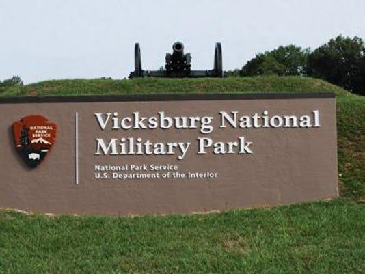 Vicksburg National Military Park sign