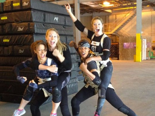 The stuntwomen of Ghostbusters ham it up for the camera