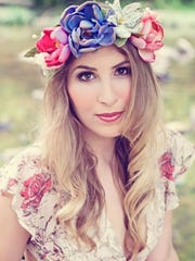 Handcrafted flower crown by local artist Bri Bowers include LED lights for perfect evening concert accessory