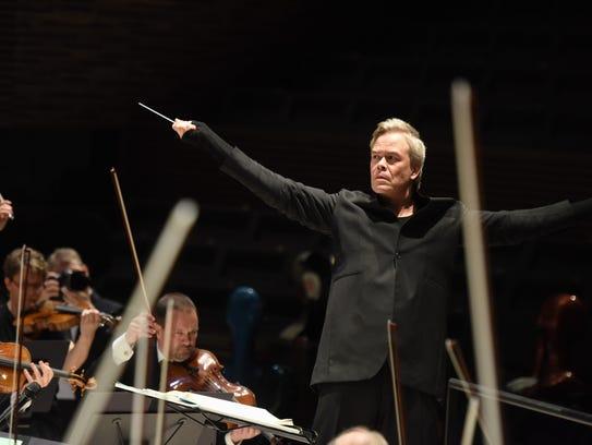 Hannu Lintu conducting the Finnish Radio Symphony Orchestra.
